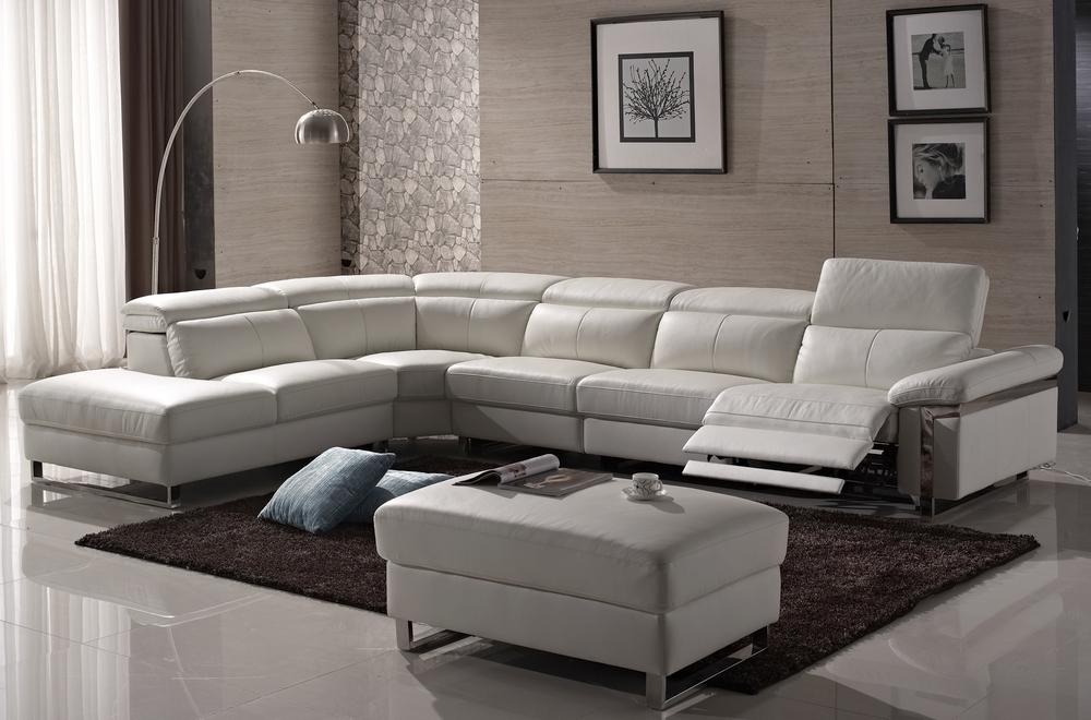 Canap d 39 angle relax en cuir buffle italien de luxe relaxino blanc angl - Canape en cuir de buffle ...