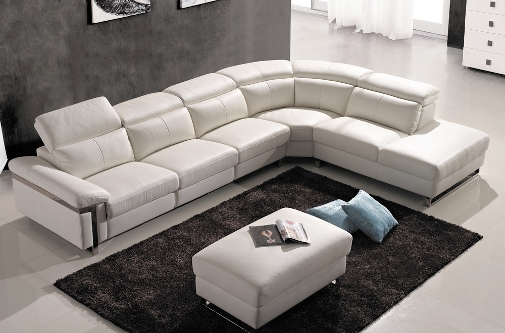 canap d 39 angle relax en cuir buffle italien de luxe relaxino blanc angle droit mobilier priv. Black Bedroom Furniture Sets. Home Design Ideas
