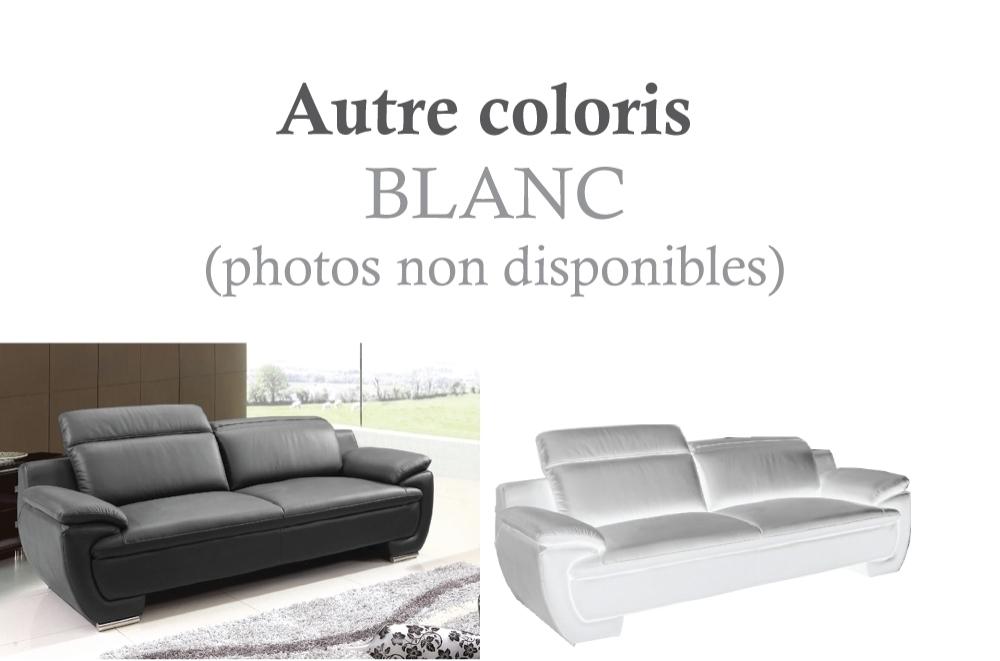 canap 3 places en cuir italien rimini blanc mobilier priv. Black Bedroom Furniture Sets. Home Design Ideas