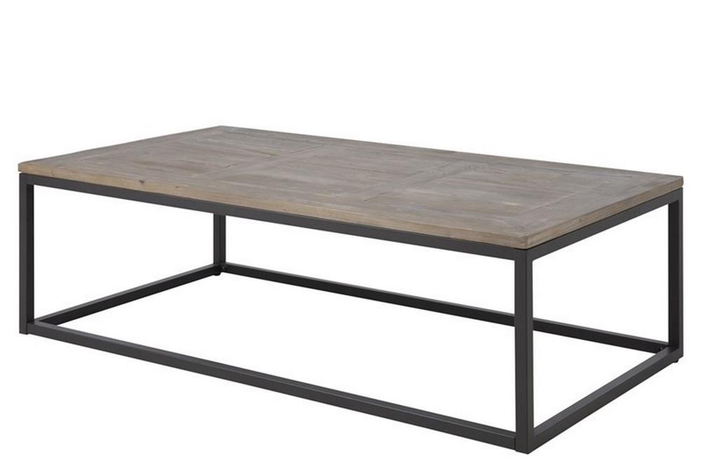Table Basse Design Dessus En Bois Pin Massif Roca