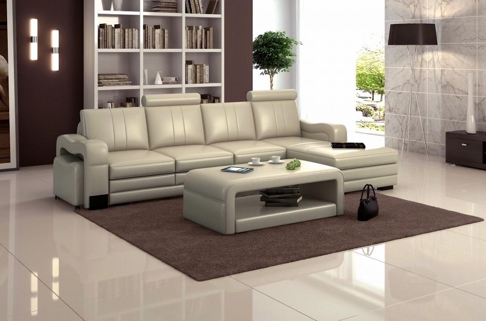 canap d 39 angle en cuir italien 5 places romana gris clair angle droit mobilier priv. Black Bedroom Furniture Sets. Home Design Ideas