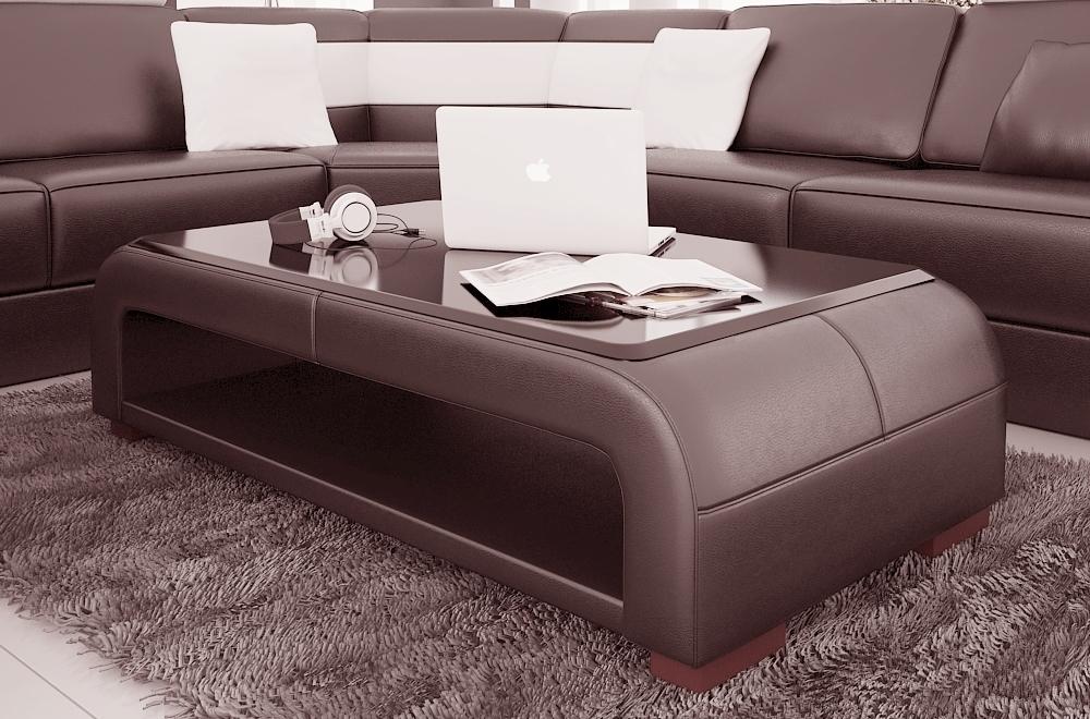 basse ROSY Chocolat design N°505 Table simili cuir en n0OvmN8w