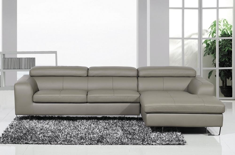 canap d 39 angle en cuir buffle italien 5 places sardaigne couleur gris clair angle droit. Black Bedroom Furniture Sets. Home Design Ideas