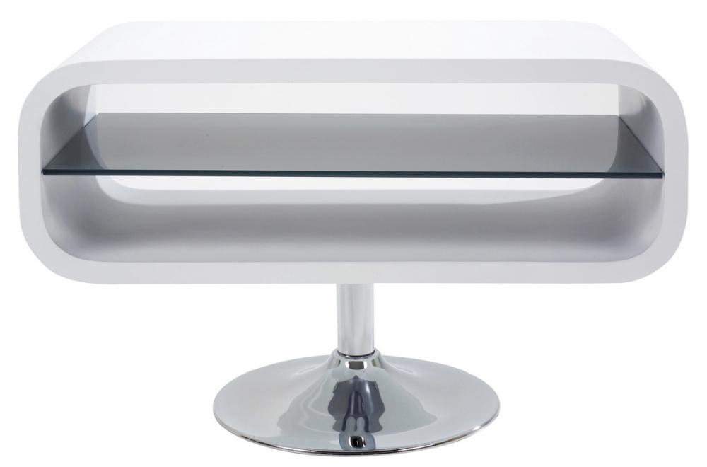 Meuble Tv Design En Bois Laque Blanc Mobilier Prive