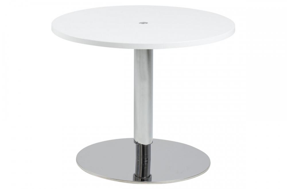 Table basse design laqu brillant blanc hauteur r glable soch mobilier priv for Mobilier laque contemporain table basse
