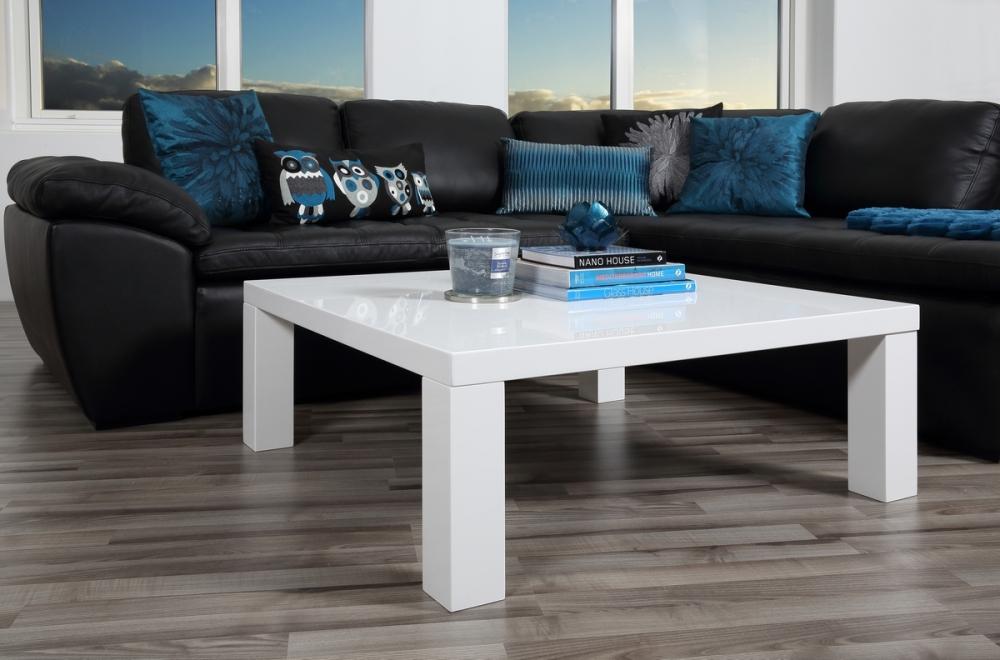 Mobilier Laque Contemporain Table Basse : Table basse design laqué brillant blanc sprint