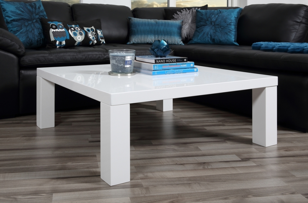 table basse design laqu brillant blanc sprint mobilier priv. Black Bedroom Furniture Sets. Home Design Ideas