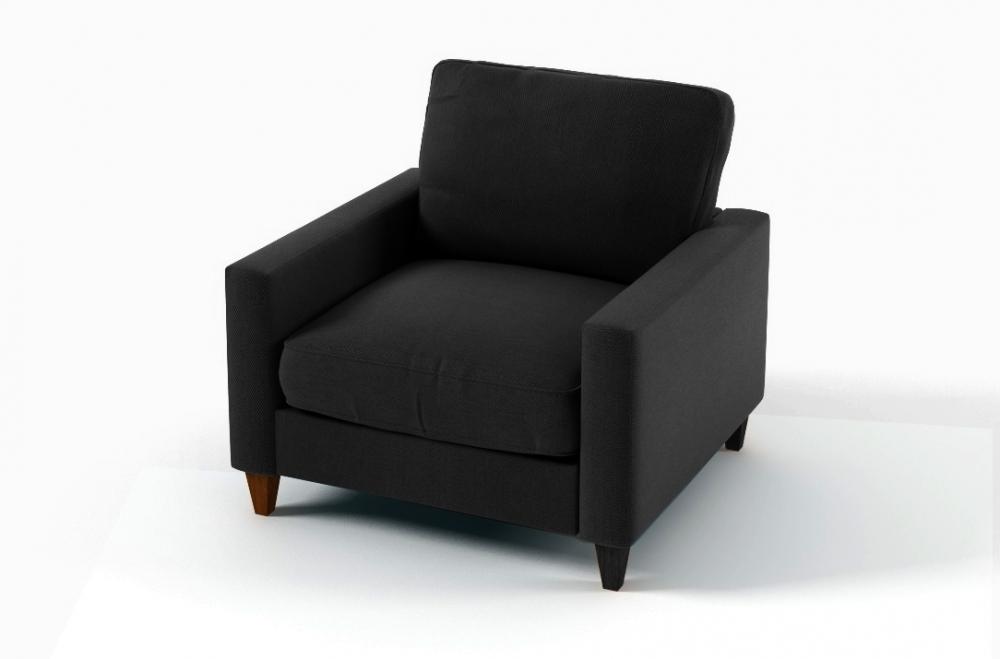 Fauteuil Place En Tissu De Qualité Sweden Noir Mobilier Privé - Fauteuil une place