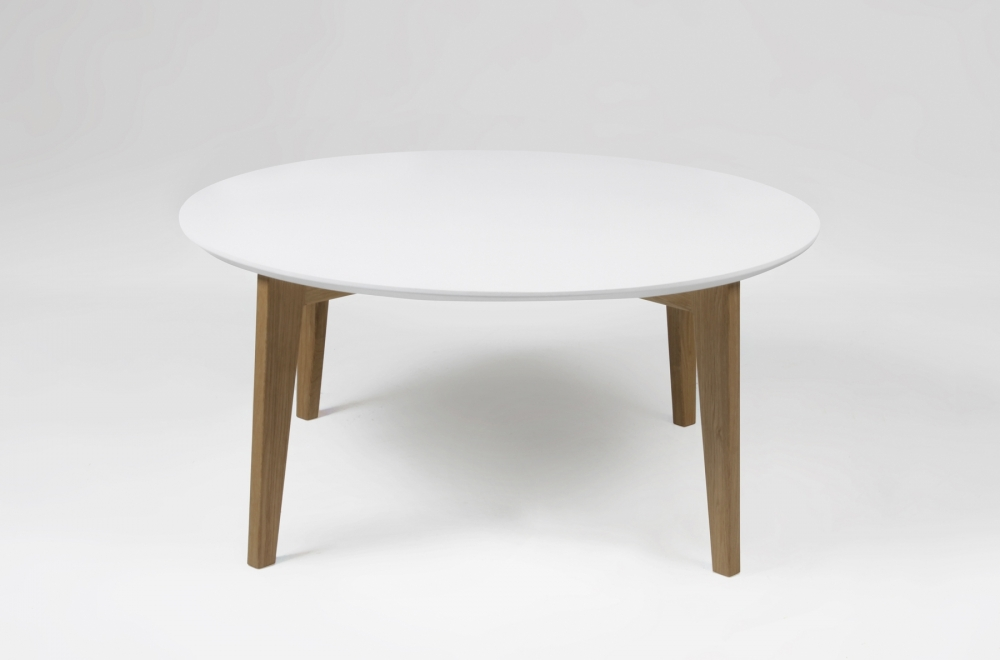 Table basse design nordique ronde ipso blanche for Table basse design nordique