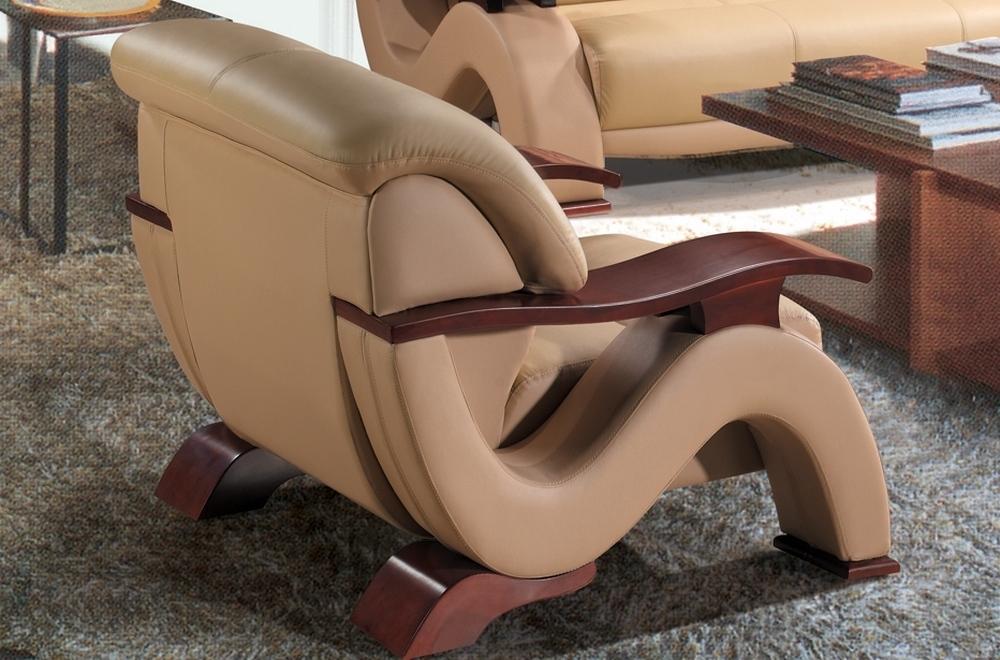 Fauteuil 1 place en cuir supérieur luxe haut de gamme italien