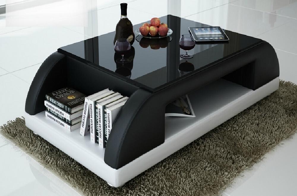 Table Basse Design Valina Noir Et Blanc
