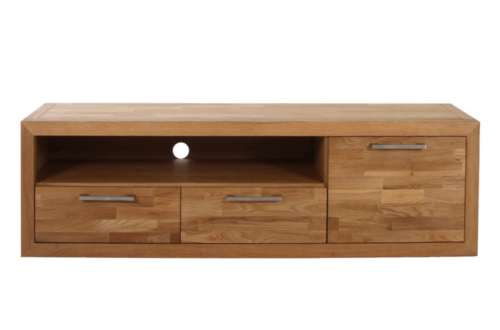 Meuble tv contemporain en bois massif welson mobilier priv - Meubles tv contemporain ...