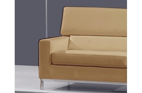 fauteuil 1 place en cuir italien xenia beige mobilier priv. Black Bedroom Furniture Sets. Home Design Ideas