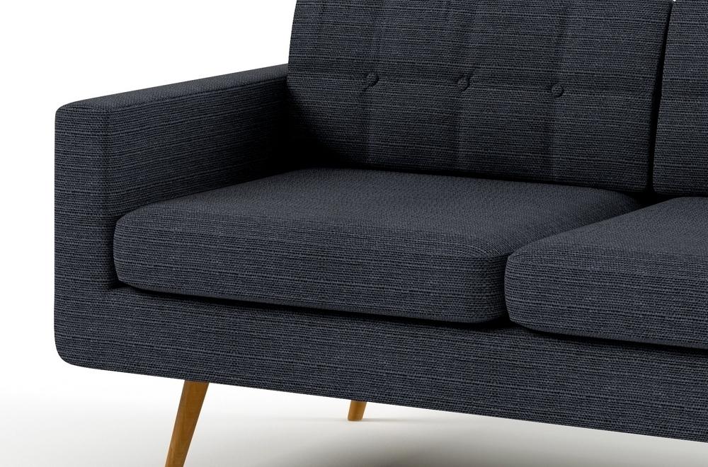 Canap 2 places en tissu de qualit yvon gris ardoise mobilier priv - Canapes de qualite ...