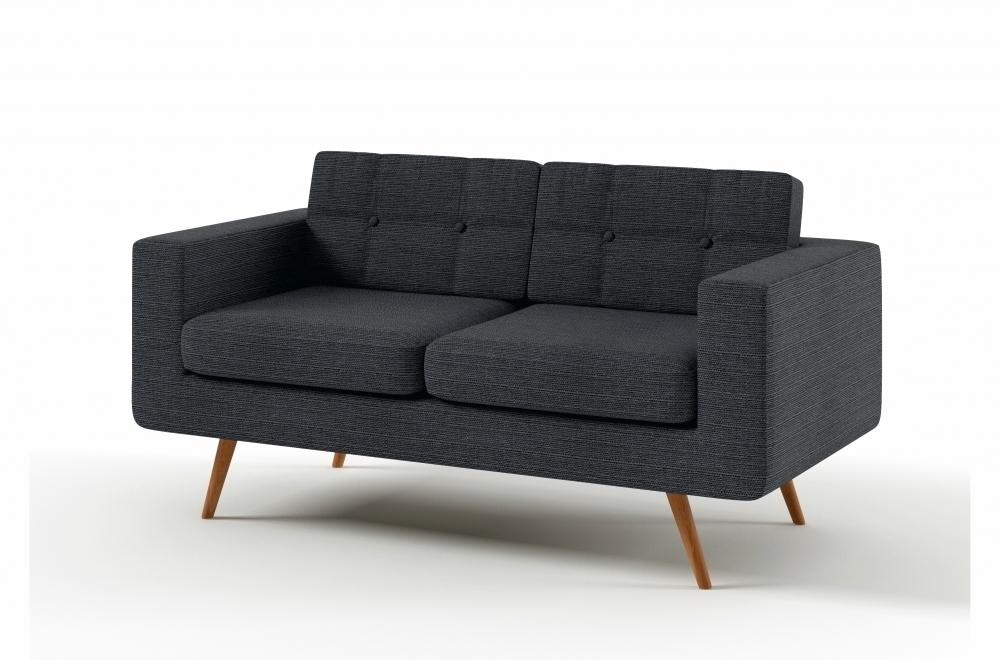 canap 2 places en tissu de qualit yvon gris ardoise mobilier priv. Black Bedroom Furniture Sets. Home Design Ideas
