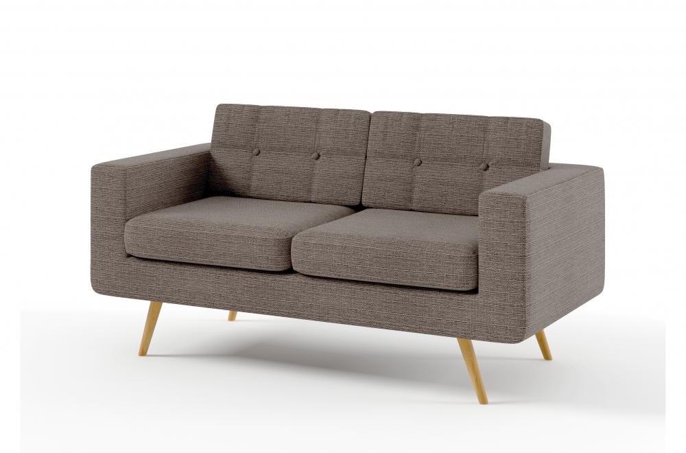 canap 2 places en tissu de qualit yvon beige mobilier priv. Black Bedroom Furniture Sets. Home Design Ideas
