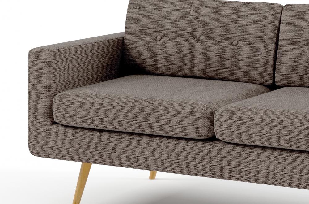 canap 3 places en tissu de qualit yvon beige mobilier priv. Black Bedroom Furniture Sets. Home Design Ideas