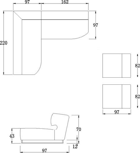 Ensemble cuir italien canap d 39 angle et 2 fauteuils parma for Canape grande longueur